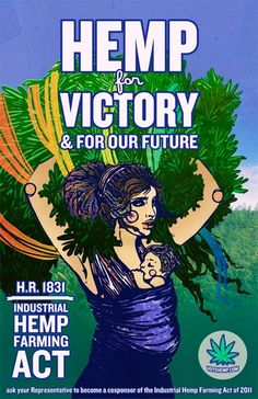A lovely poster created by Andrea R. Georgas for Vote Hemp. http://www.languageisalie.com/ We will be printing a run of these posters soon for donation gifts! Please take action here http://votehemp.capwiz.com/