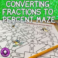 3 mazes to get students lots of practice converting fractions to a percent. They will love this interactive game- so much more fun than a traditional worksheets!