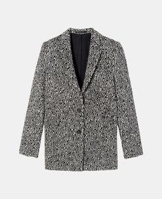 Manteau 100% laine en jacquard léopard - Manteaux & Blousons - The Kooples