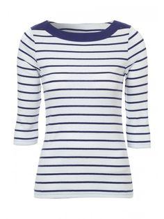 Spring: Womens Envelope Neck 3/4 Sleeve T-Shirt | Peacocks £8