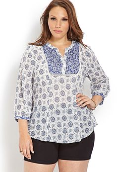 Boho Beauty Peasant Top | FOREVER21 PLUS - 2000088614