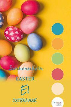 Die Farben des Frühlings als Inspiration für deine Marke und dein Branding. Ideen für Farben und Schriftarten für deine Corporate Identity. Web Design, Logo Design, Corporate Design, Banner, Flyer, Designs, Easter Eggs, Spring, Creative