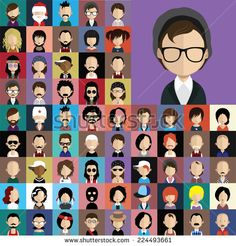 10 Best Recruiting Tips for Recruiters Flat Design Illustration, Family Illustration, Portrait Illustration, Cartoon Faces, Cartoon Styles, Man Character, Character Design, Profile Logo, Visual Note Taking