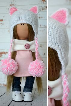 Fabric doll Interior doll Home doll Art doll by AnnKirillartPlace