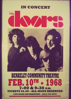 The Doors touring framed poster in 1968 soon available on www.design-only.com