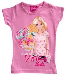 Girls Barbie Short Sleeve T shirt / Top / Tee: Amazon.co.uk: Clothing