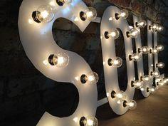 metal letter lights | Metal Letters SOUL light.