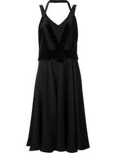 ESTEBAN CORTAZAR cross overlay dress. #estebancortazar #cloth #dress