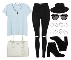 """""""Style #10549"""" by vany-alvarado ❤ liked on Polyvore featuring Topshop, Monki, Yves Saint Laurent, Prada and ASOS"""