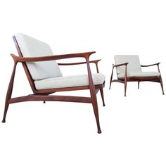 """Ico Parisi Pair of """"Lord"""" Lounge Chairs for Fratelli Reguitti, Italy, 1959"""