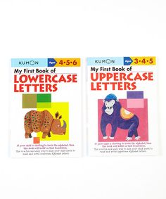 We love My First Book of Uppercase & Lowercase Letter Workbook Set by Kumon Publishing and they are on #zulily today!