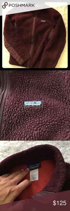 Patagonia Fleece Authentic Patagonia, thick, comfy, cozy fleece! From a pet free and smoke free home. I hope the color comes up right because it is beautiful! It's an eggplant/deep maroon. Perfect for fall or winter, depending on where you live. Two side pockets, all zippers work. No tears. Patagonia Jackets & Coats
