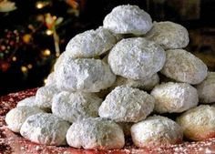 Recipe for homemade cookies – Happy Christmas Almond Coconut Cake, Almond Cookies, Greek Sweets, Greek Desserts, Greek Christmas, Christmas Time, Sweets Recipes, Cookie Recipes, Homemade Cookies