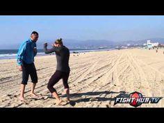 Ronda Rousey vs. Miesha Tate 2- Rousey Beach workout | MMA WMMA