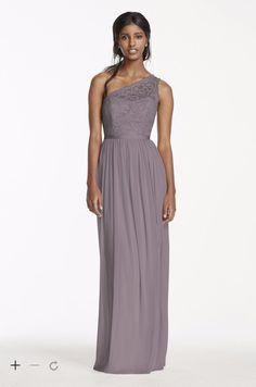 portobello http://www.davidsbridal.com/Product_long-one-shoulder-lace-bridesmaid-dress-f17063_all-bridesmaid-dresses