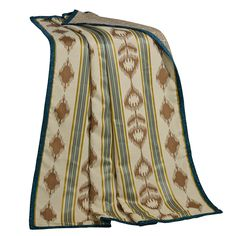 This wonderful multi-colored throw provides a perfect accent for any country home. Tying together the geometric shapes with many colors, this throw is eye-catching.