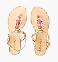 Lilly Pulitzer Pink Sandals for Summer!