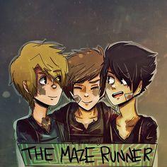 the maze runner fan art | coffeemakerway:The Maze Runner is in da JAUS!Newt + Thomas + Minho…I ...