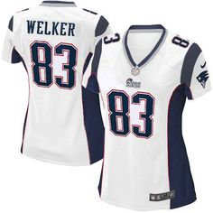 510a4c5a3 New Women s White NIKE Game New England Patriots  83 Wes Welker NFL Jersey