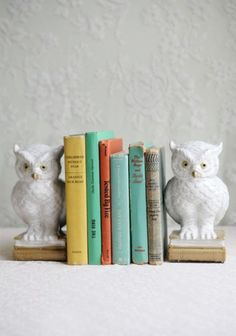 Loving these Owl of Wisdom Book Ends, adorable!! $50 via Ruche.com