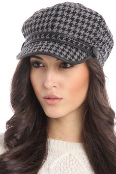 Cool Houndstooth Hat.
