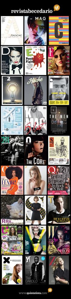 collection of mag covers - A thru Z