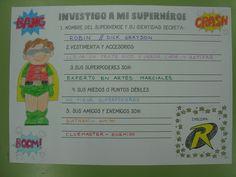 Una vez que repartimos los Superhéroes y las Superheroínas..., nos queda investigar sobre ellos para contárselo a nuestros compis.     En ...