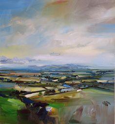 David Atkins - Late Summer Landscape  Oils