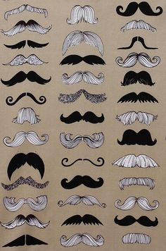 Image discovered by Thalissa. Find images and videos about illustration, mustache and moustache on We Heart It - the app to get lost in what you love. Alexander Henry Fabrics, Beard No Mustache, Mustache Party, Movember Mustache, Big Moustache, Mustache Grooming, Handlebar Mustache, Art Plastique, Hair