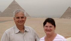 Fred & Wife at the Pyramids - Spark Marketer