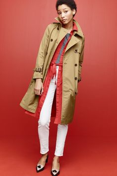 THE CITY TRENCH In refined cotton and a just-right shade of khaki, this is the timeless layer you'll still be wearing in 10 years.