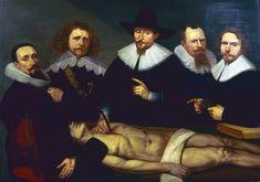 "Lección de Anatomía del doctor Zacheus de Jager (""Anatomy lesson of doctor Zacheus de Jager""). Christiaan Coevershoff. 1640. Localización: Westfries Museum (Hoorn, Holanda). https://painthealth.wordpress.com/2016/10/26/leccion-de-anatomia-del-doctor-zacheus-de-jager/"