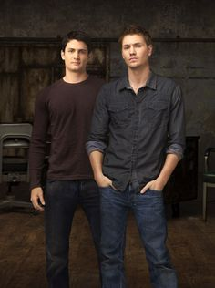 James Lafferty and Chad Michael Murray from One Tree Hill