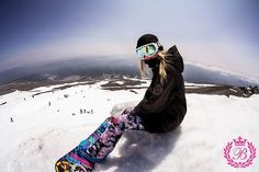 She's an awesome Snowboarder!!