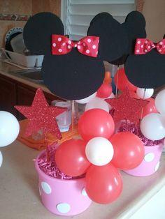 DIY Minnie Mouse Party Ideas: Centerpieces