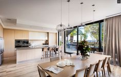 Urbane Revival - contemporary - Dining Room - Perth - Urbane Projects Pty Ltd Dining Room Lighting, Dining Room Design, Dining Room Furniture Sets, Contemporary Dining Room Lighting, Kitchen Table Settings, Kitchen Design, Dining Room Furniture, Dining Room Light Fixtures, Best Dining