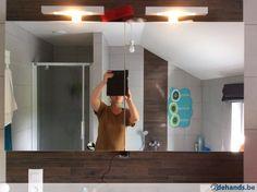 Meuble miroir salle de bain,Eclairage intégré,neuf, Sanijura Bathroom Lighting, Mirror, Diy, Furniture, Home Decor, Bathroom Light Fittings, Bathroom Vanity Lighting, Decoration Home, Bricolage