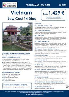 VIETNAM Low Cost 14 Días, desde 1.429 € + tasas - http://zocotours.com/vietnam-low-cost-14-dias-desde-1-429-e-tasas/
