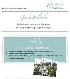 Gartenkalender als Download - Einfach Gärtnern nach der Natur mit dem Phänologischen Kalender