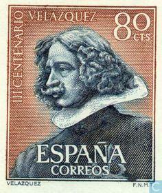 Dedicated Spain Arts Diego Velazquez Famous Painting Souvenir Sheet 1961 Mlh Topical Stamps