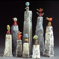 "Soapbox Collection  Ceramic, Free Standing, 5"" to 17"" in Height, j a c q u l i n e  h u r l b e r t"