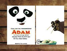 Kung Fu Panda Birthday Invitation - Instant download Panda Birthday Party, Panda Party, Boy Birthday, Birthday Parties, Movie Themes, Party Themes, Party Ideas, Po Kung Fu Panda, Karate Party