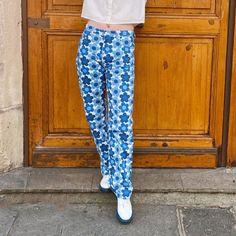 Stylish Floral Print Straight Y2k Jeans Female 2021Fashion Chic Boyfriends High Waisted Denim Pants For Women Capris Streetwear Jeans  - AliExpress Blue Trousers, Denim Pants, Cargo Pants, Streetwear Jeans, Floral Jeans, Pants For Women, Clothes For Women, Funky Fashion, Harajuku