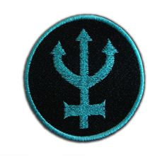 Sailor Neptune Symbol Patch (140 UYU) ❤ liked on Polyvore featuring accessories, fillers, sailor moon, patches and badges