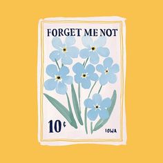 WEBSTA Finished this one up today illustration design paint flowers stamp packaging floral forget me not Seed Illustration, Illustrations, Room Posters, Poster Wall, Poster Prints, Graphic Art Prints, Vintage Art Prints, Wall Collage, Wall Art