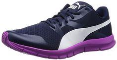 Puma Flexracer, Unisex-Erwachsene Sneakers, Blau (peacoat-white-purple cactus flower 05), 37.5 EU (4.5 Erwachsene UK) - http://on-line-kaufen.de/puma/37-5-eu-puma-unisex-erwachsene-flexracer-sneakers
