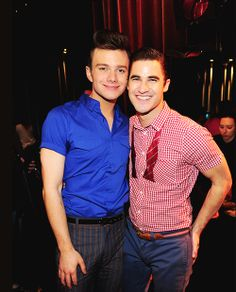 Chris Colfer and Darren Criss