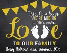 A personal favorite from my Etsy shop https://www.etsy.com/listing/261895064/digital-new-years-baby-announcement