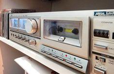 A JVC cassette deck in in 2019 a network music player. Class D Amplifier, Looks Cool, A5, Timeless Design, Deck, Music, Musica, Musik, Front Porches