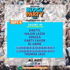 Friday, September 4th - Mad Decent Block Party 2015 w/ Major Lazer, Odesza, RL Grime + More @ Shaw Millennium Park - Tickets: Starting at $45